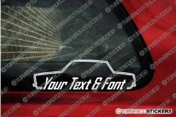 2x Ford Lotus Cortina saloon Mk1 CUSTOM TEXT stickers
